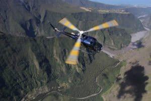 rivière des remparts : itineraire pour le survol en hélicoptère du volcan de la Réunion